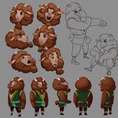 Serina Mo_Visual Development_Concept Art_Character Design_Sheep