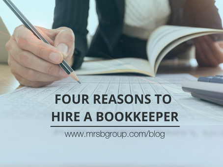 Four advantages to hiring an external bookkeeper for your business