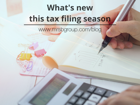 What's new this tax-filing season?