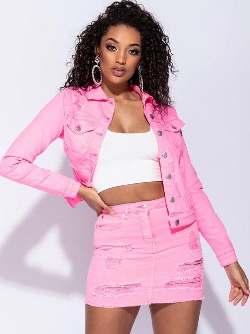 Pick Me Pinky Jean Jacket