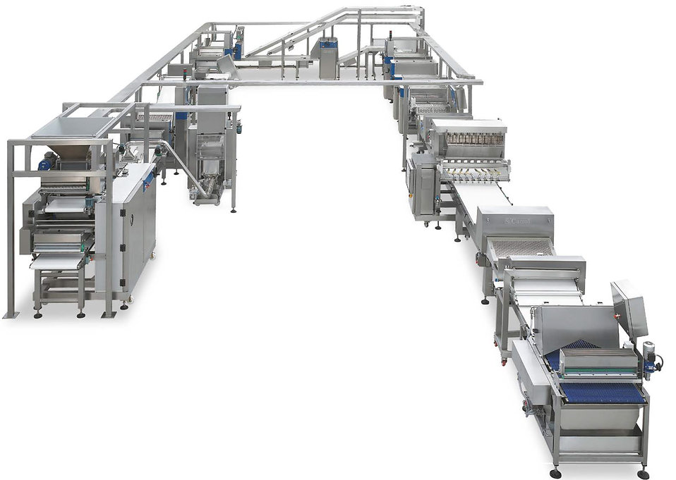 Laminating Line with 3 folding stations