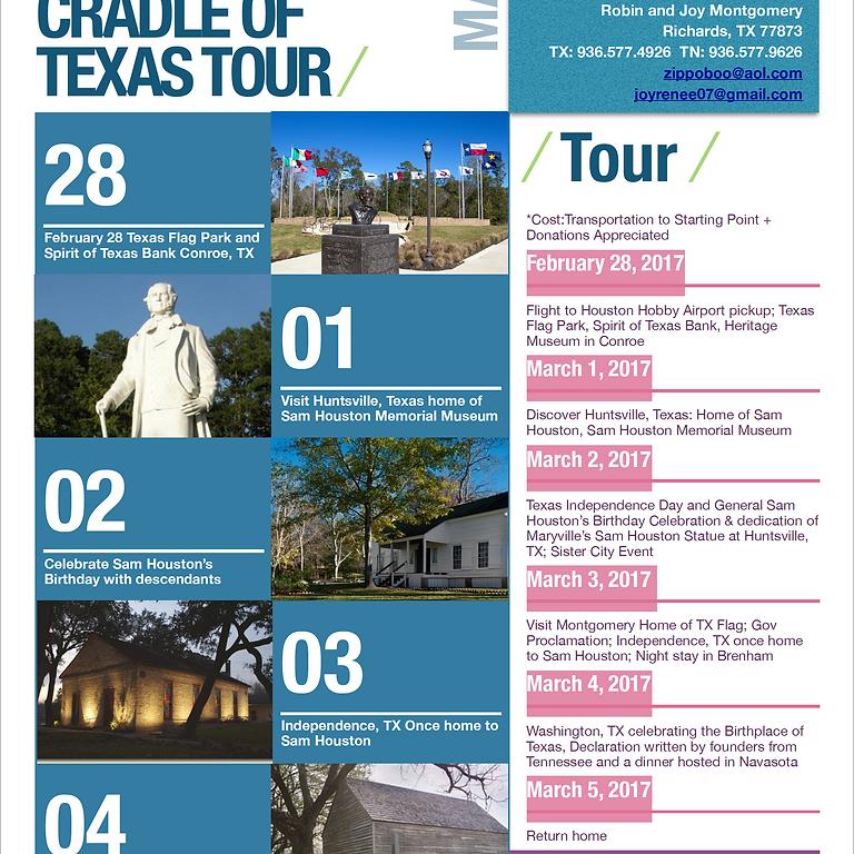 Sam Houston Cradle of Texas Tour: Texas Salutes Tennessee