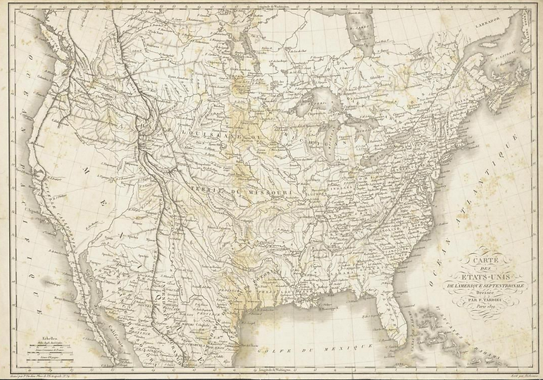 Map 1819 North America