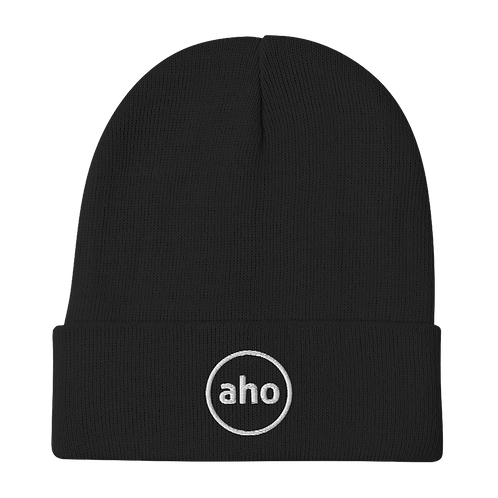 Aho Embroidered Beanie