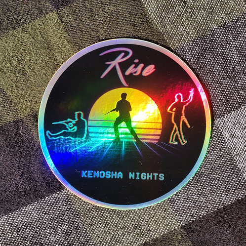Rise Holo Sticker