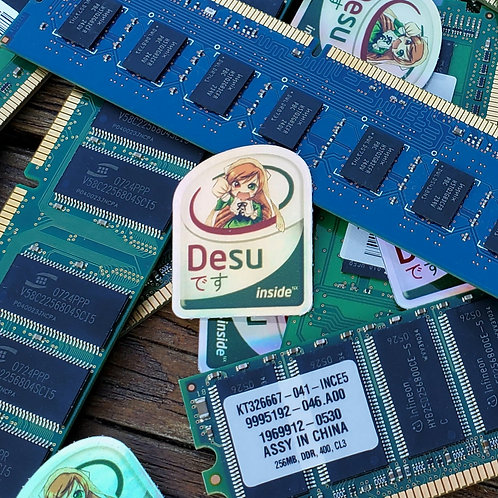Desu Inside Holo Sticker