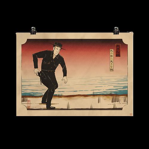 Japanese Big Iron Poster - テキサスレッド