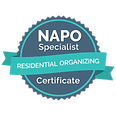 NAPO Residential Organizing Certificate.