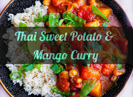 Red Thai Sweet Potato & Mango Curry
