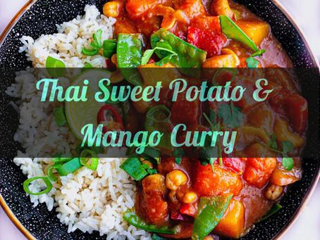 Red Thai Sweet Potato & Mango Curry