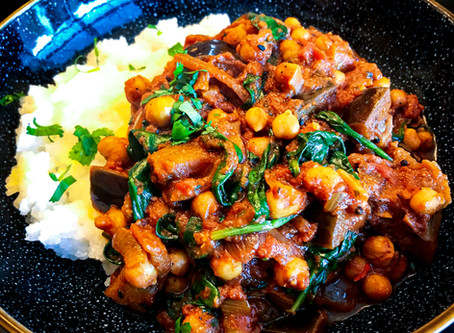 Aubergine and Chickpea Curry