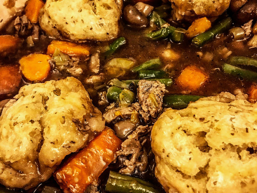 'No Beef' Stew and Dumplings