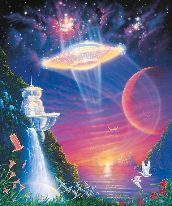 Plieadean Paradise  UFO ART