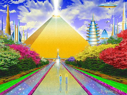 Golden Temple in Atlantis