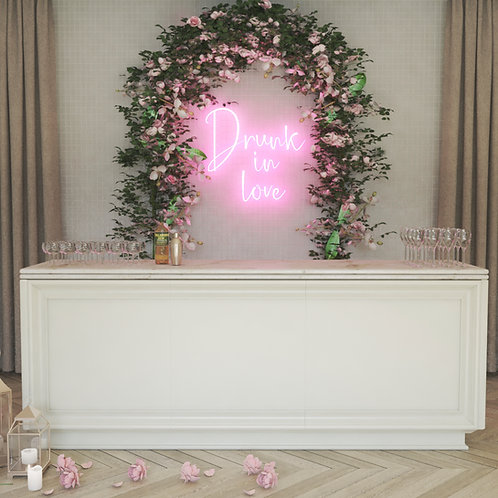 Drunk in love neon sign, Wedding sign