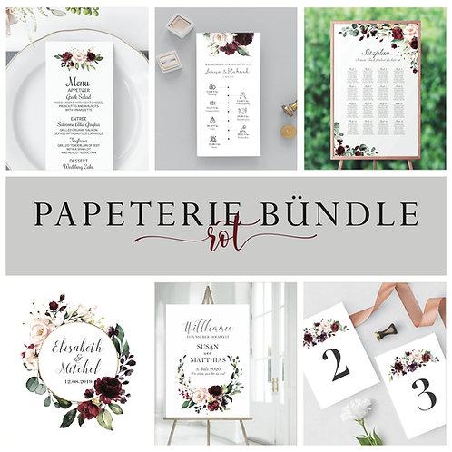 Modern Wedding Bundle, Wedding Essential, Stationery bundle wedding, red themed wedding stationery