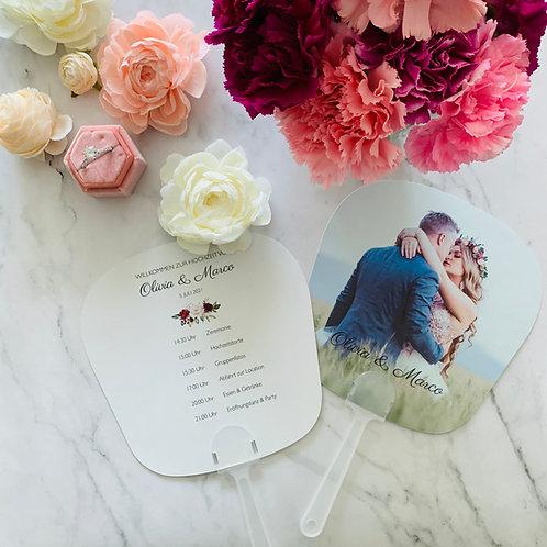 Printable Program Fan Timeline - Printable Wedding Fan