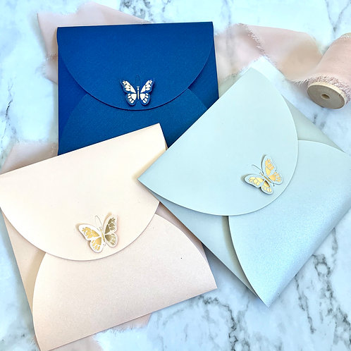 Butterfly Envelope, Pearl Paper Envelopes with Hot Stamping Butterfly