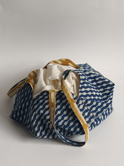 The Ashtakon Bag Kit - Noodle Beads Indigo