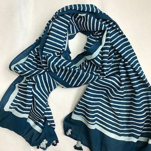 Scarf52 Deep Ocean Stripe
