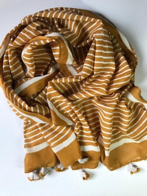 Scarf11  Mustard stripe