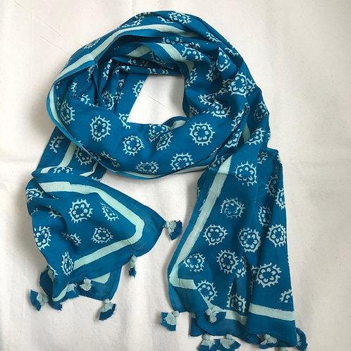 Scarf47 Blue Phool