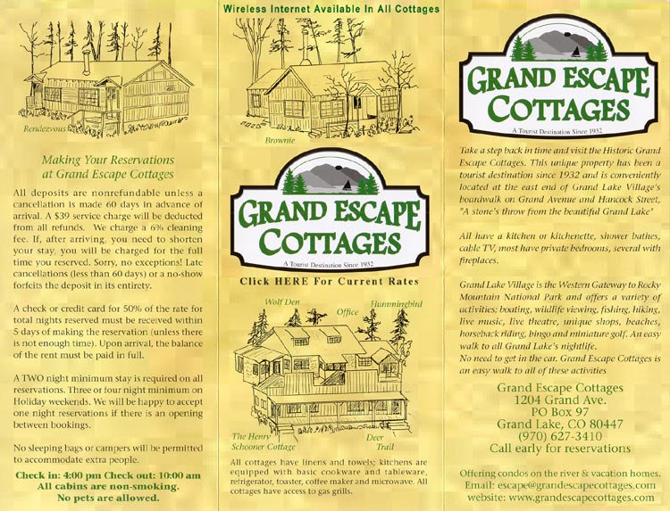 Grand Escape Cottages Brochure
