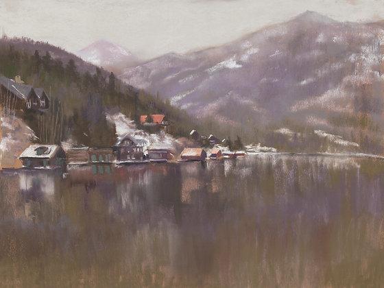 V149 - Morning Mist Over Grand Lake