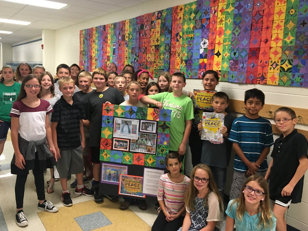 Oregon Elementary Student's Paint for Peace project