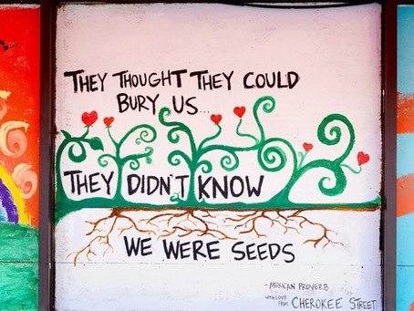 """Seeds"" Proverb painting by Andrea McMurray"