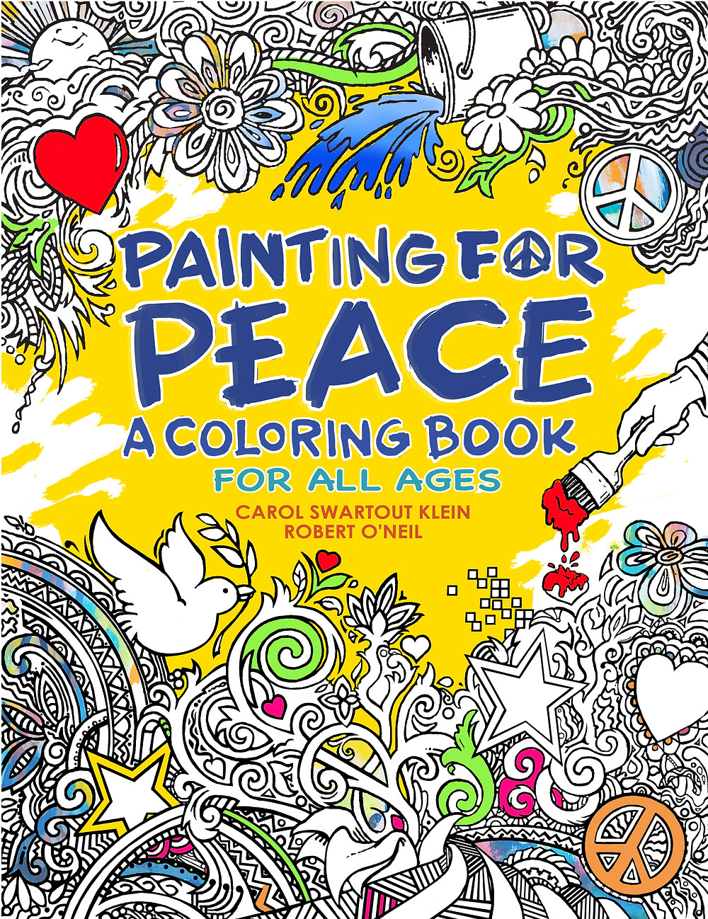 Painting for Peace coloring book, coloring book for all ages, adult coloring book