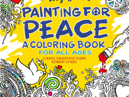 Painting for Peace: A Coloring Book will be available May 2016