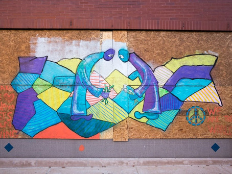 South Grand mural depicts hopes for peace