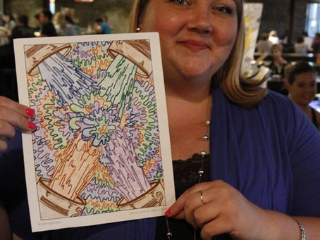 New art inspired by coloring book for adults & children
