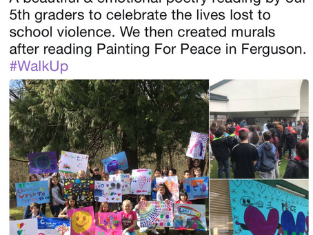 "Teachers are using ""Painting for Peace in Ferguson"" in art, social justice, social studies"