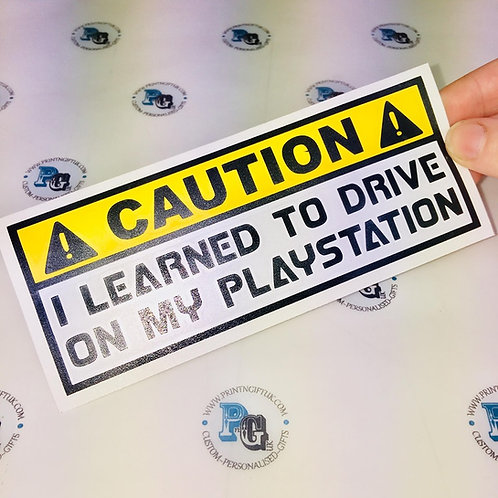 PLAYSTATION DRIVER DECAL