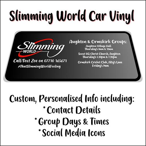 Slimming World Car Vinyl Decals - Advertising