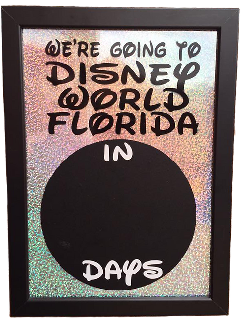 Holiday Countdown Timer with chalkboard