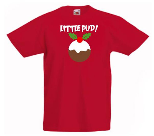 """Little Pud"" Christmas T-shirt - Childs"