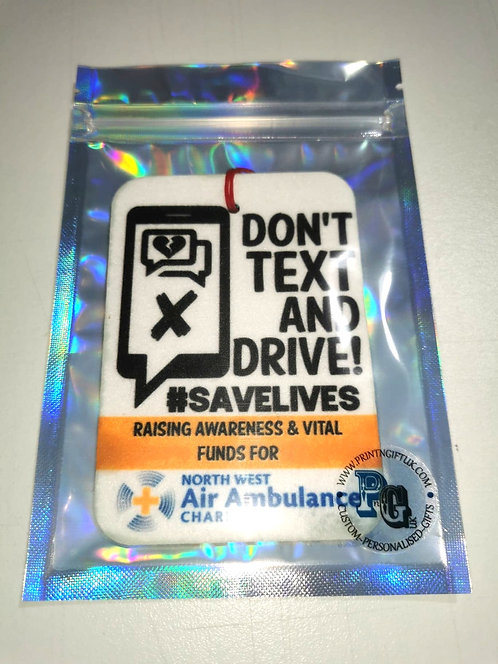 Don't Text & Drive Air-Freshener