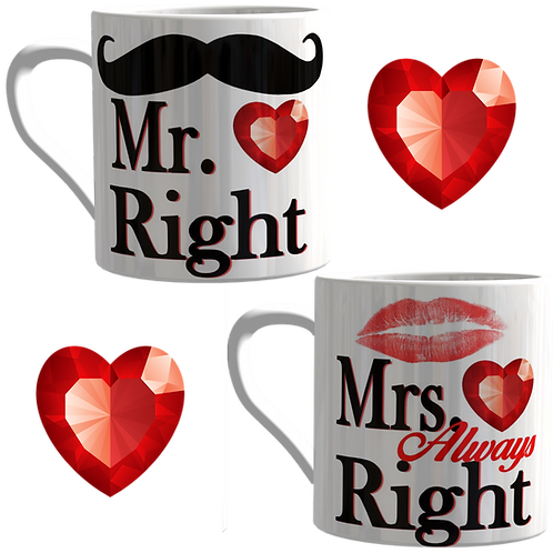 Mr & Mrs Matching Love Mug's