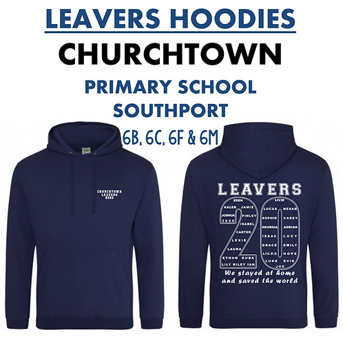 CHURCHTOWN LEAVERS HOODIES: ALL 2020 CLASSES