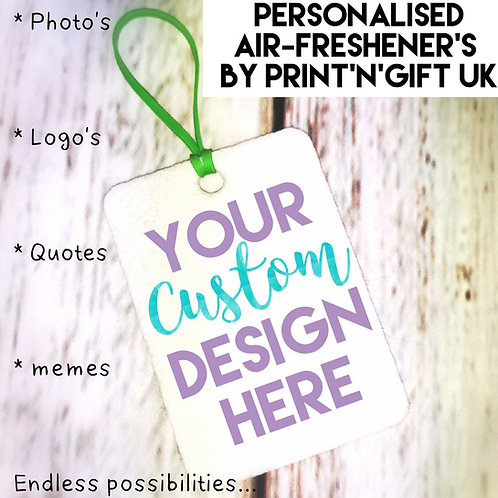 Custom Air-freshener - Choose your design!