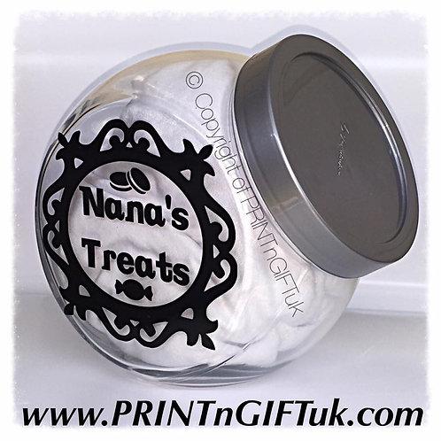Personalised Nana's Treat/Biscuit Jar (ANY NAME)