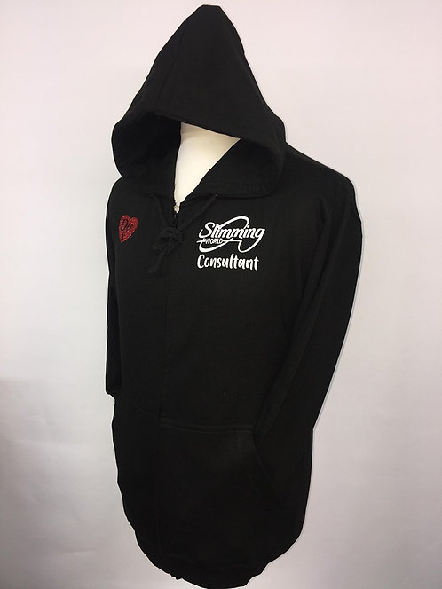 Slimming World Black Zipped Hoody - Consultant Standard Vinyl