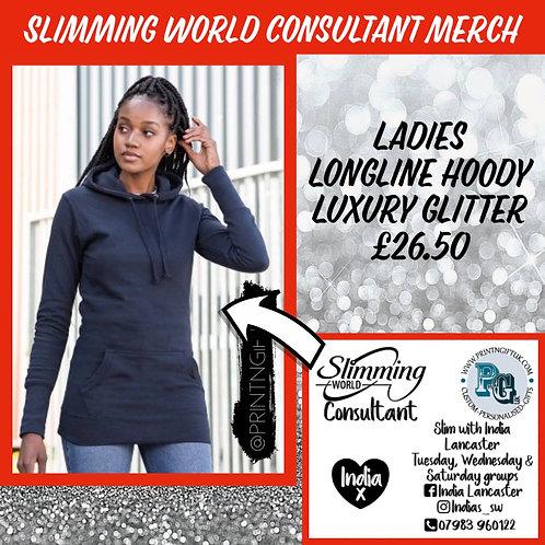 Slimming World Longline Consultant hoody LUXURY GLITTER