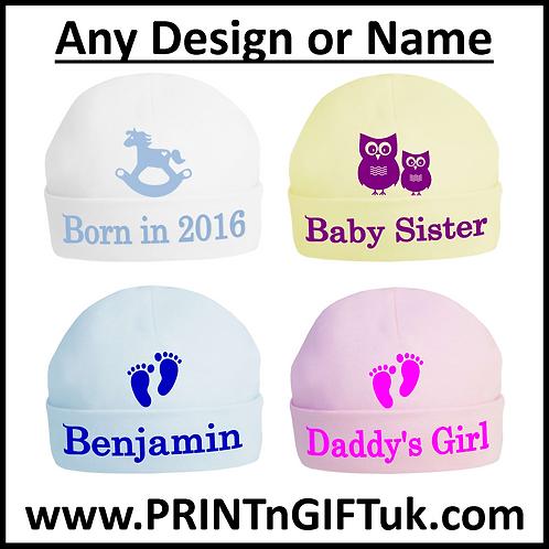 Personalised Baby Beanie Hat
