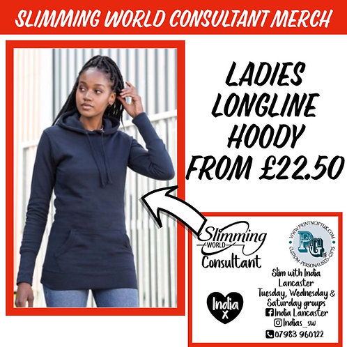 Slimming World Longline Consultant hoody STANDARD VINYL