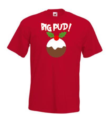 """""""Big Pud"""" Christmas T-shirt - Adults"""
