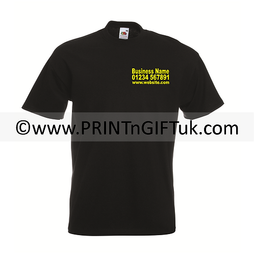 Business Tshirt - Text only - Front & Back